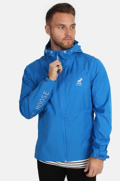 Fat Moose Active Logo Jakke Strong Blue