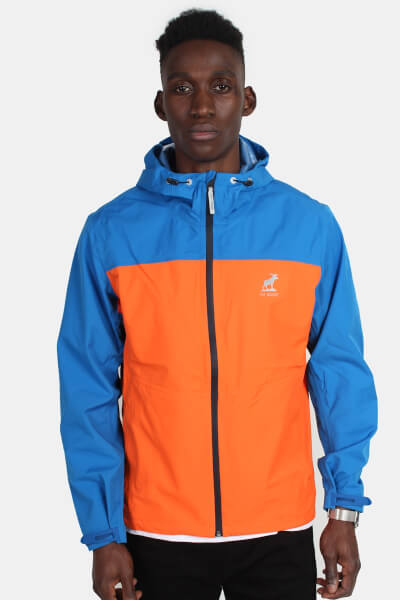 Fat Moose Active Logo Jakke Orange/Strong Blue