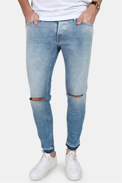 Jack & Jones Glenn Original Cropped Jeans Blue Denim