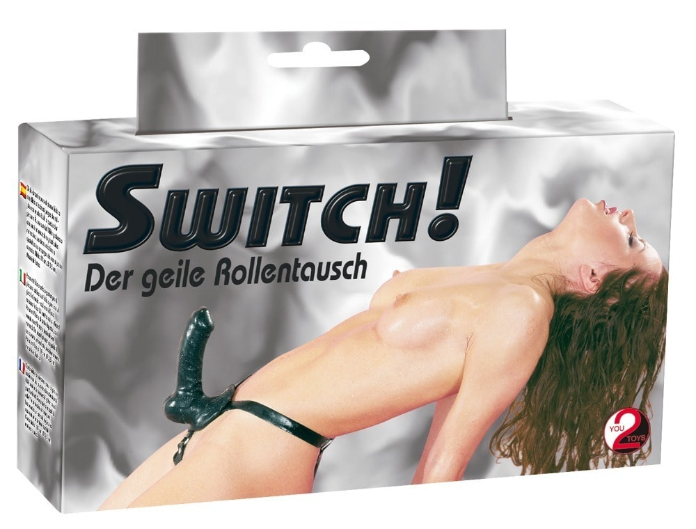 Switch Strapon Dildo Sort Latex