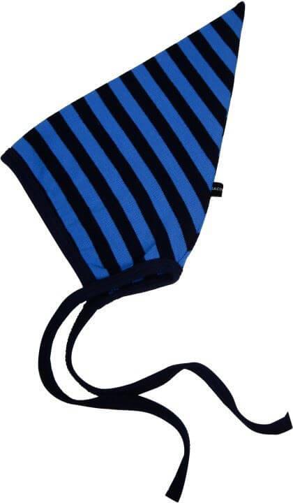Hue, enkeltlags Navy blå striber str. 62 - Racing Kids