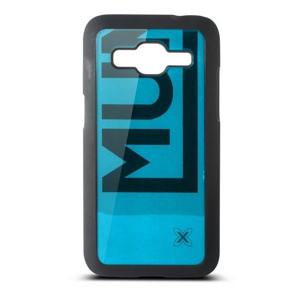 Mobilcover Samsung Galaxy Core Munich Color Line Polykarbonat Sort Blå