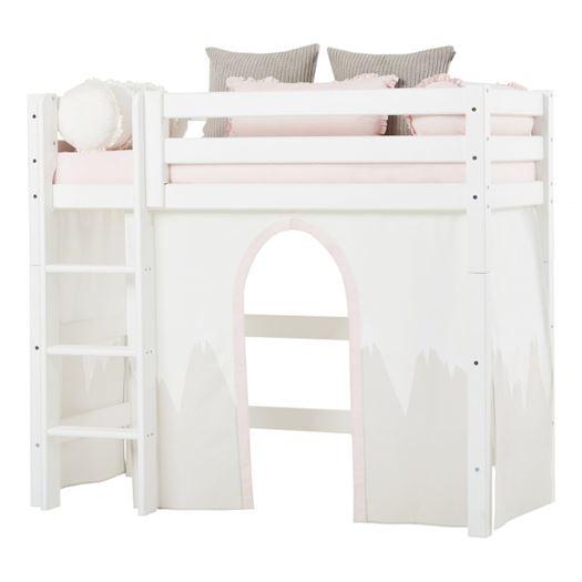 Forhæng, Winter Wonderland til mellemhøj seng 160 cm - Hoppekids