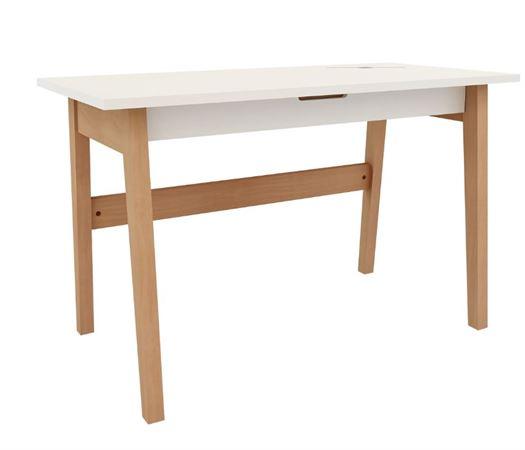 Skrivebord stort, Hvid - MOBI Furniture