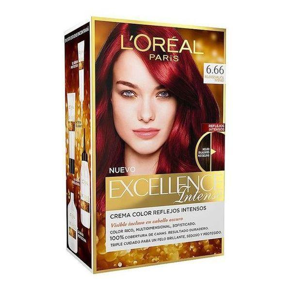 Permanent Farve Excellence Intense L'Oreal Expert Professionnel Flammende intens rød
