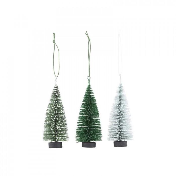 House doctor ornamenter x-mas tree 3 fv./pk (10 cm)