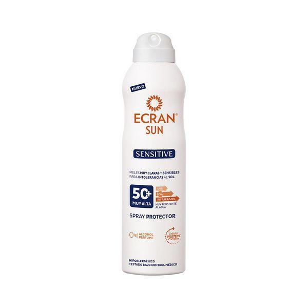 Solcreme spray Sensitive Ecran SPF 50+ (250 ml)