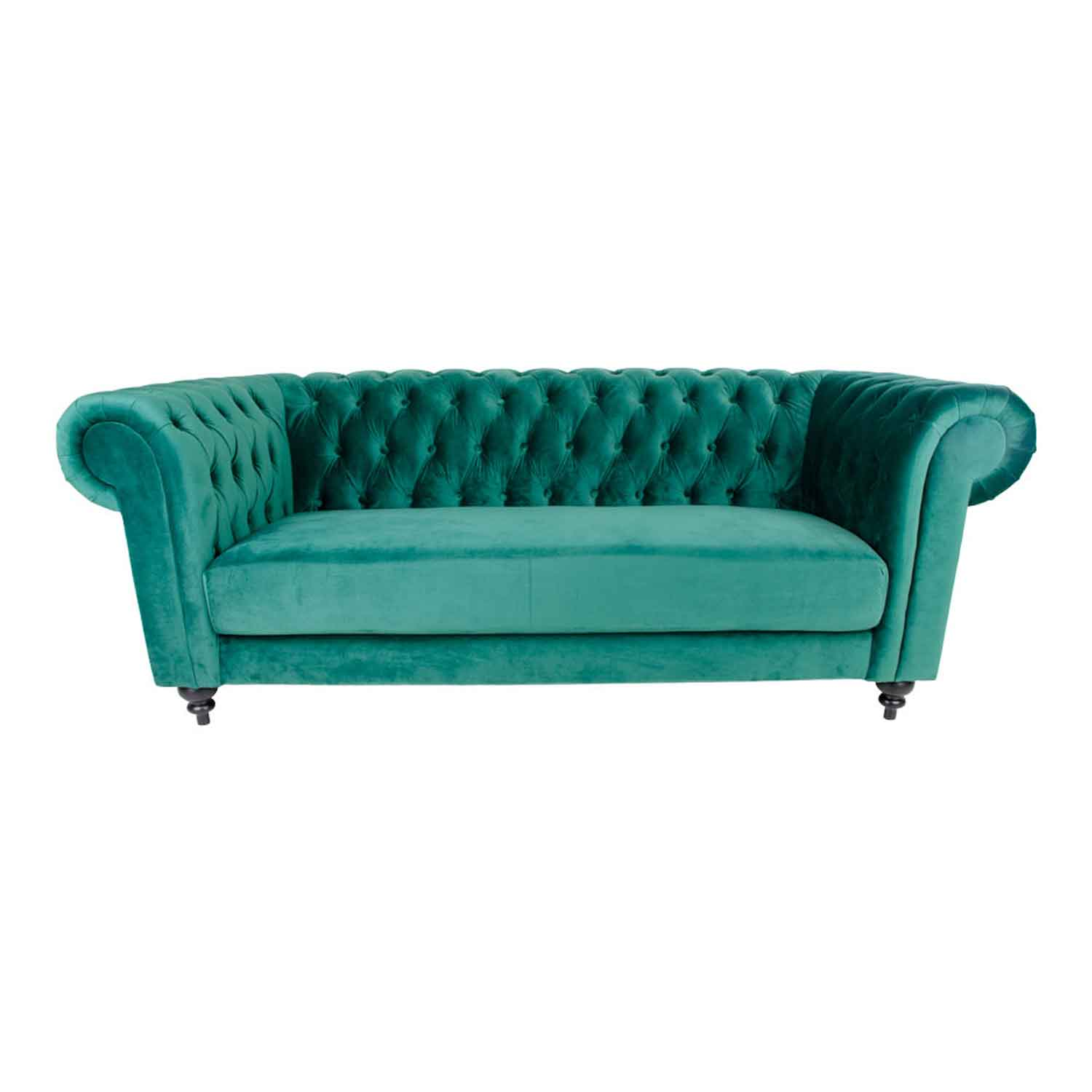 HOUSE NORDIC Chester 3-personers sofa - grn velour/tr