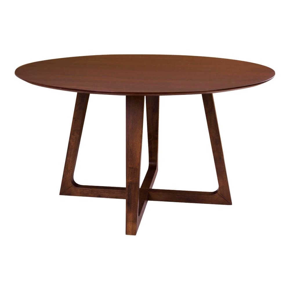 HOUSE NORDIC Hellerup spisebord - valnd og trstel, rund ( 137)