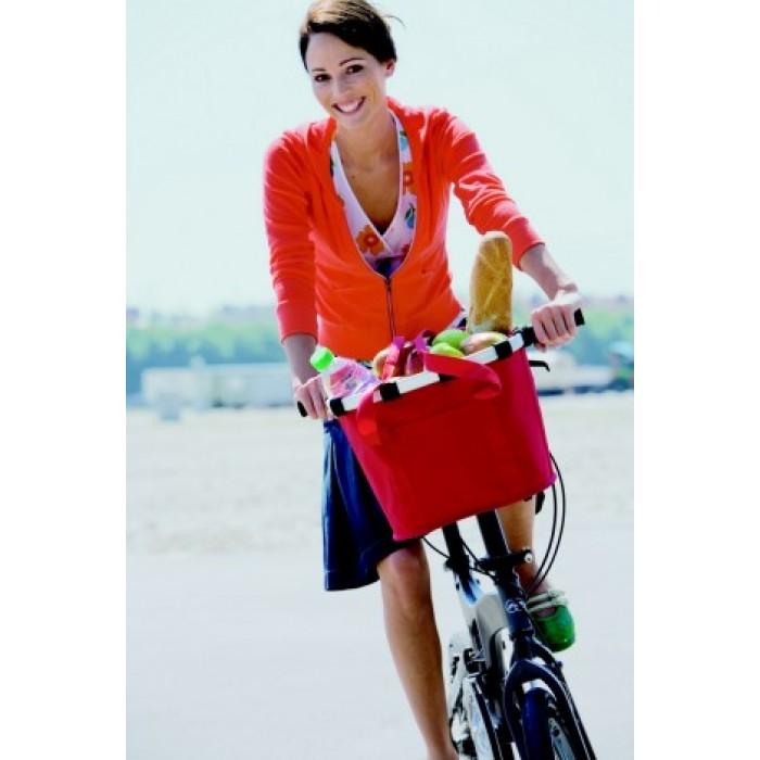 Bikebasket indkøbskurv (rød)
