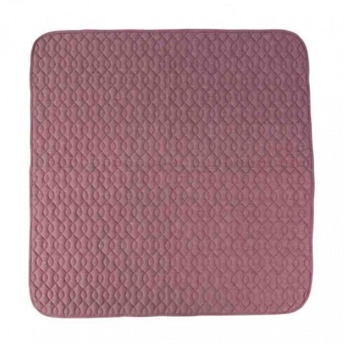 Quiltet tæppe (rosa)