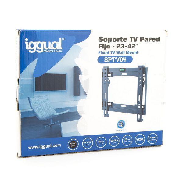 Fastsat TV støtte iggual SPTV04 IGG314647 23''''-42'''' Sort