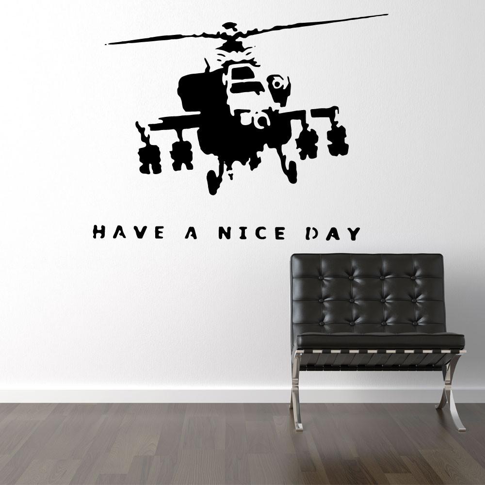 Militærhelikopter - Banksy