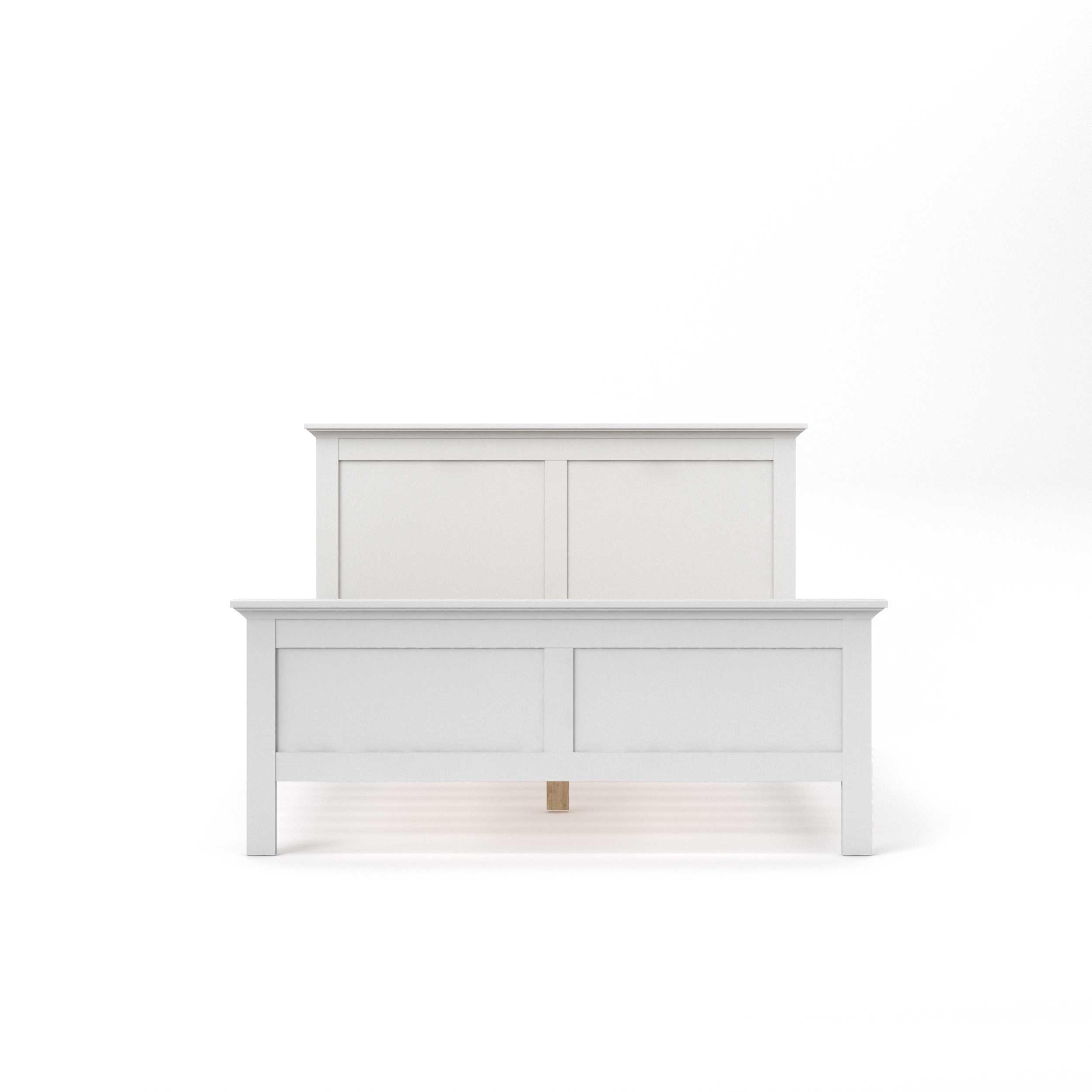Paris sengeramme - hvid tr (140x200)