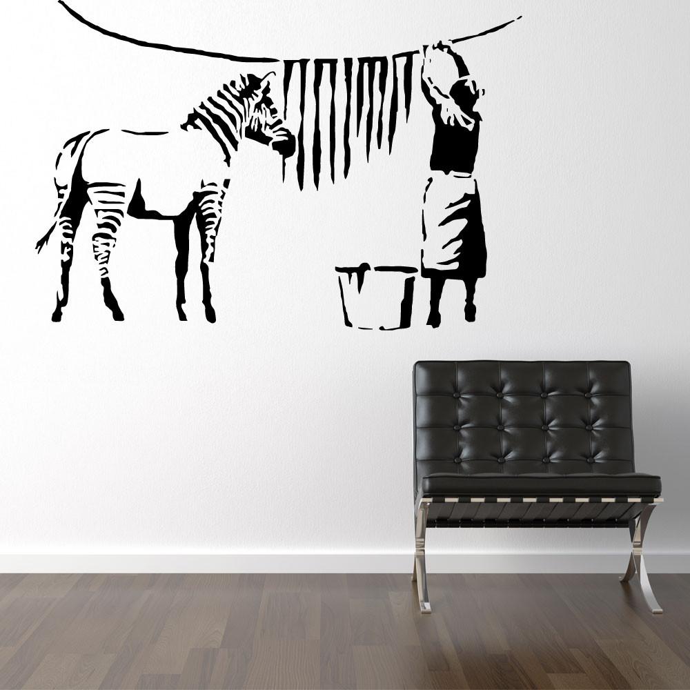 Zebra striber til tørre - Banksy