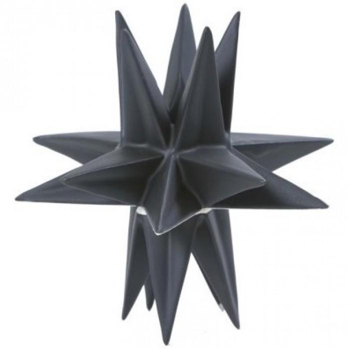 Rex stjerne lysestage (sort/17 cm)