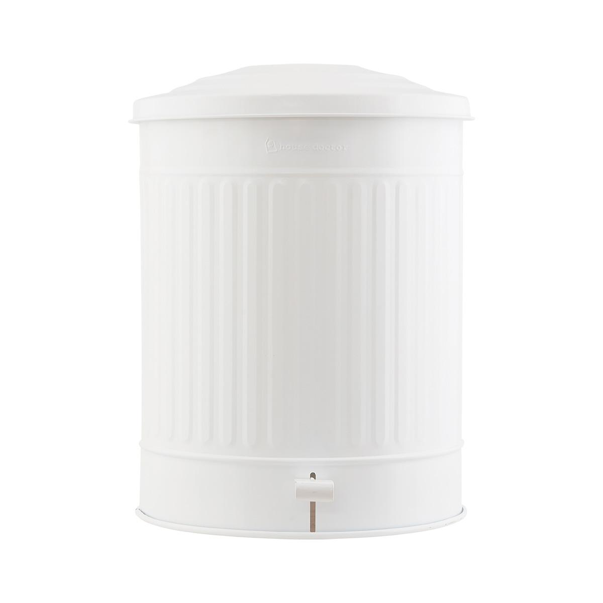 HOUSE DOCTOR affaldsspand - mat hvid jern, m. lg ( 37)