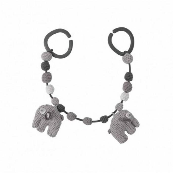 Barnevognskæde (grå/elefant)