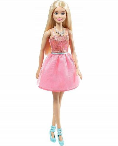 Barbie Dukke - Glitter Kjole Og Turkis Sko