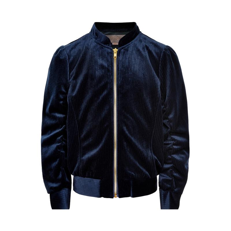 Creamie velour bomber jakke 821262