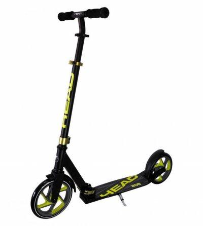 Head - 145 Kick Løbehjul I Aluminium - Barn - Sort Og Lime