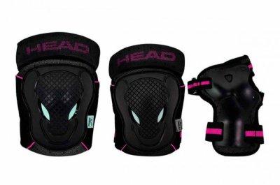 Head - Beskyttelsessæt - Sort Og Pink- M