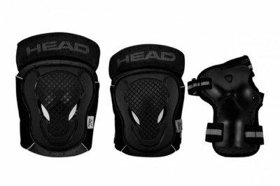 Head - Beskyttelsessæt - Sort Og Grå - Xl
