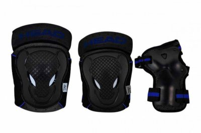 Head - Beskyttelsessæt - Sort Og Blå - Xs