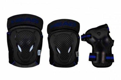 Head - Beskyttelsessæt - Sort Og Blå - M