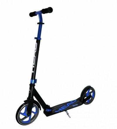 Head - 145 Kick Løbehjul I Aluminium - Barn - Sort Og Blå