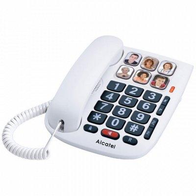 Alcatel Tmax 10 Fastnettelefon Til Ældre - Hvid