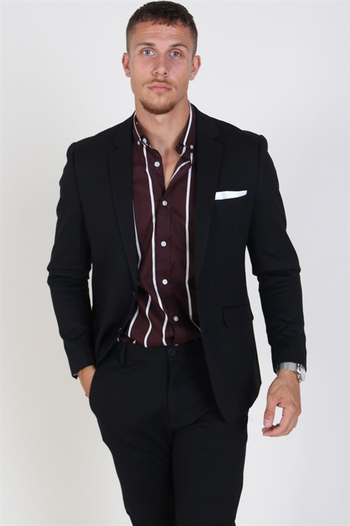 Clean Cut Milano Jersey Blazer Black