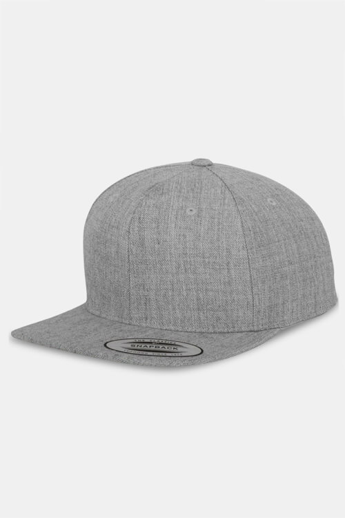 Flexfit Classic Snapback Cap Heather Grey