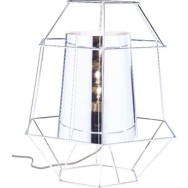 KARE DESIGN Wire Silver bordlampe - stl og plast