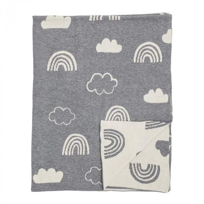 Bloomingville plaid (grå/bomuld/l110xb80 cm)