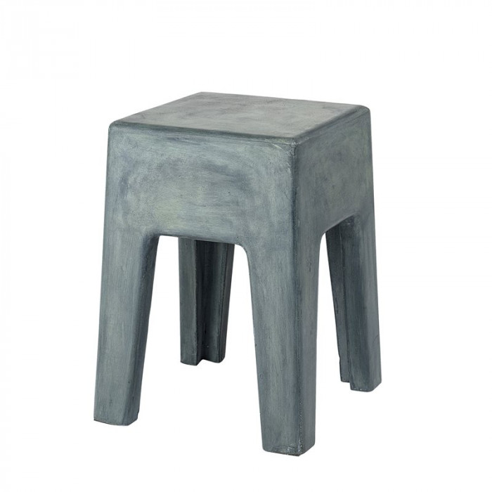 Bloomingville ravi taburet (grøn/beton/l33xh46xb33 cm)