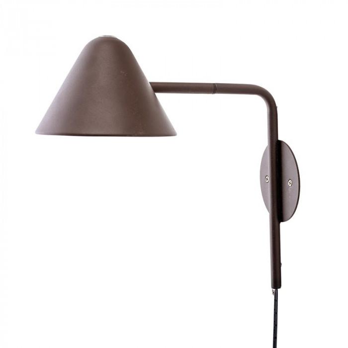 Bloomingville væglampe (brun/metal/ø15xh30xb29 cm)