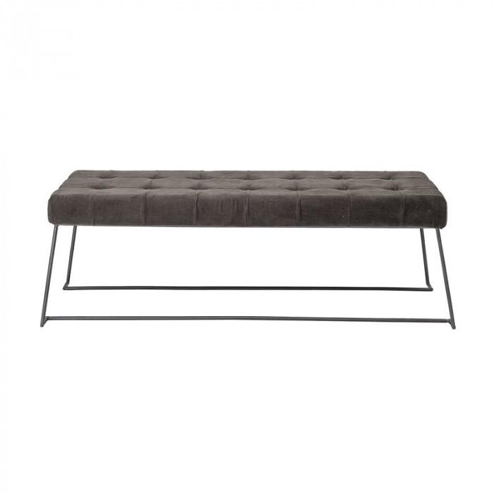 Bloomingville bænk (brun/polyester/l120xh40xb46 cm)