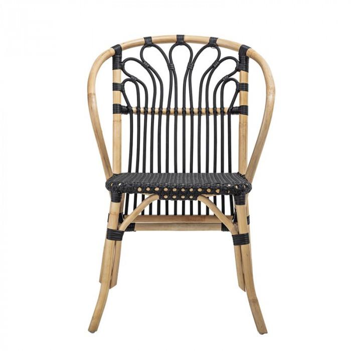 Bloomingville stol (sort/rattan/l58xh84xb60 cm)