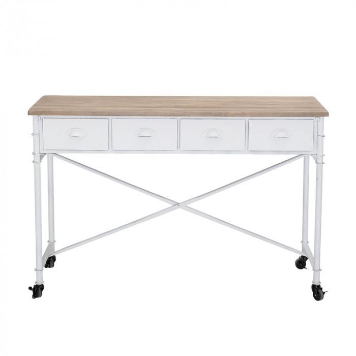 Bloomingville skrivebord (hvid/grantræ/l120xh80xb40 cm)