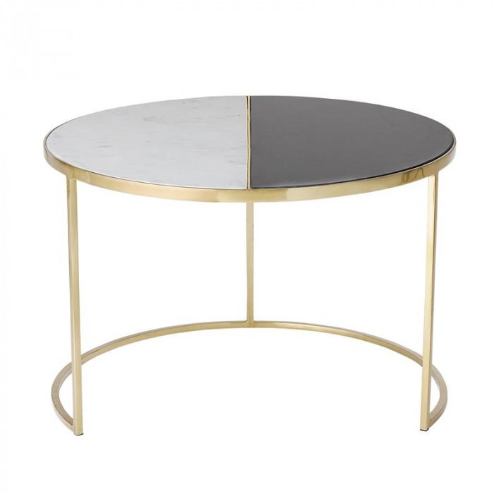 Bloomingville sofabord (multi/marmor/ø76xh51 cm)