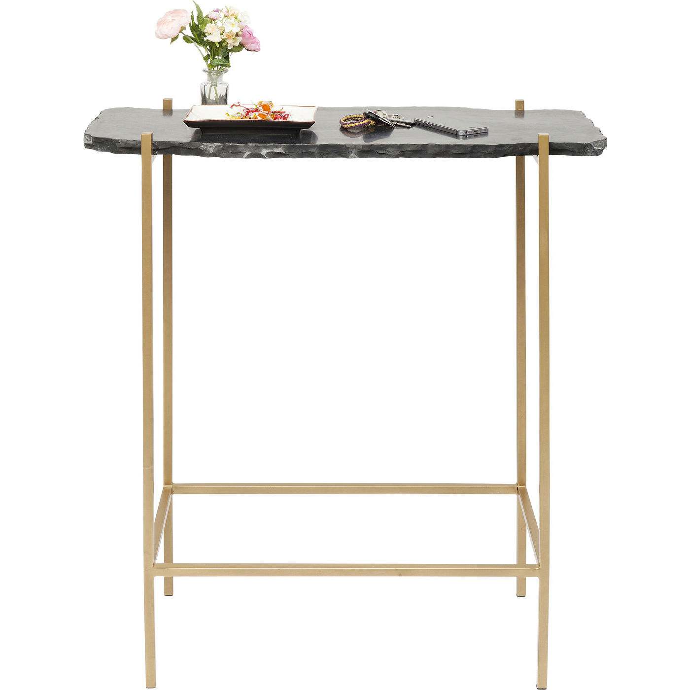KARE DESIGN Piedra Black barbord - sort granit/guld stl