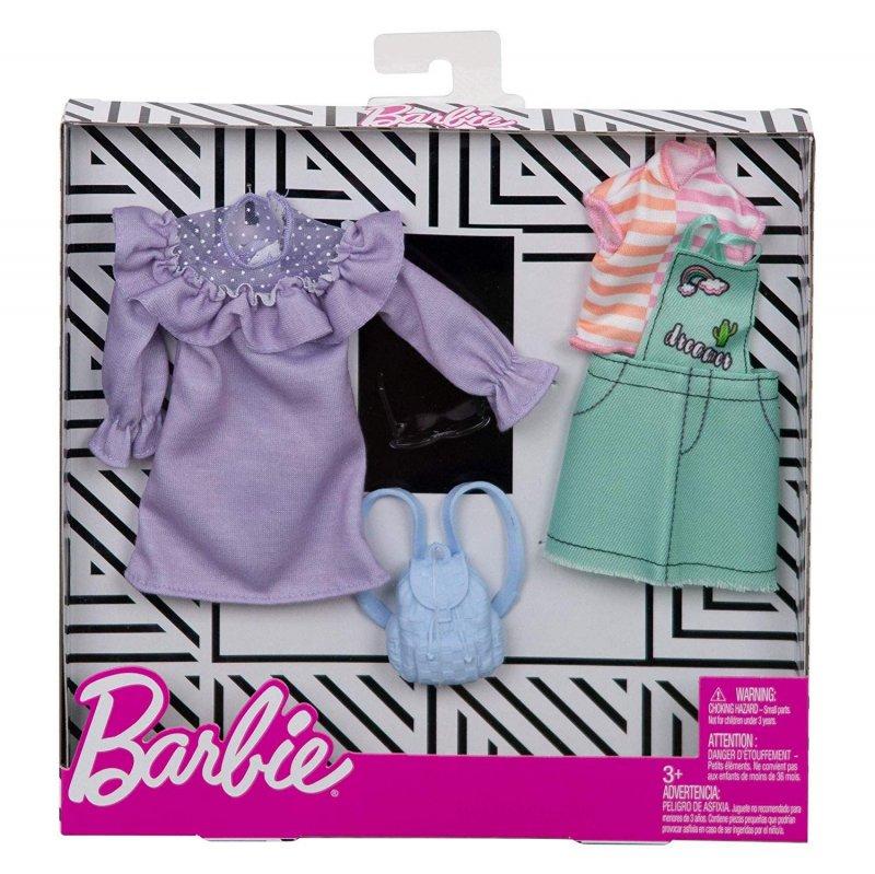 Barbie Dukketøj - Fashion 2-Pak - Pastel & Lapper
