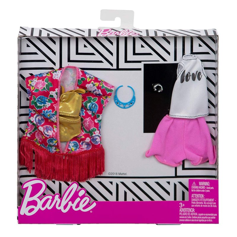 Barbie Dukketøj - Fashion 2-Pak - Strand Tøj