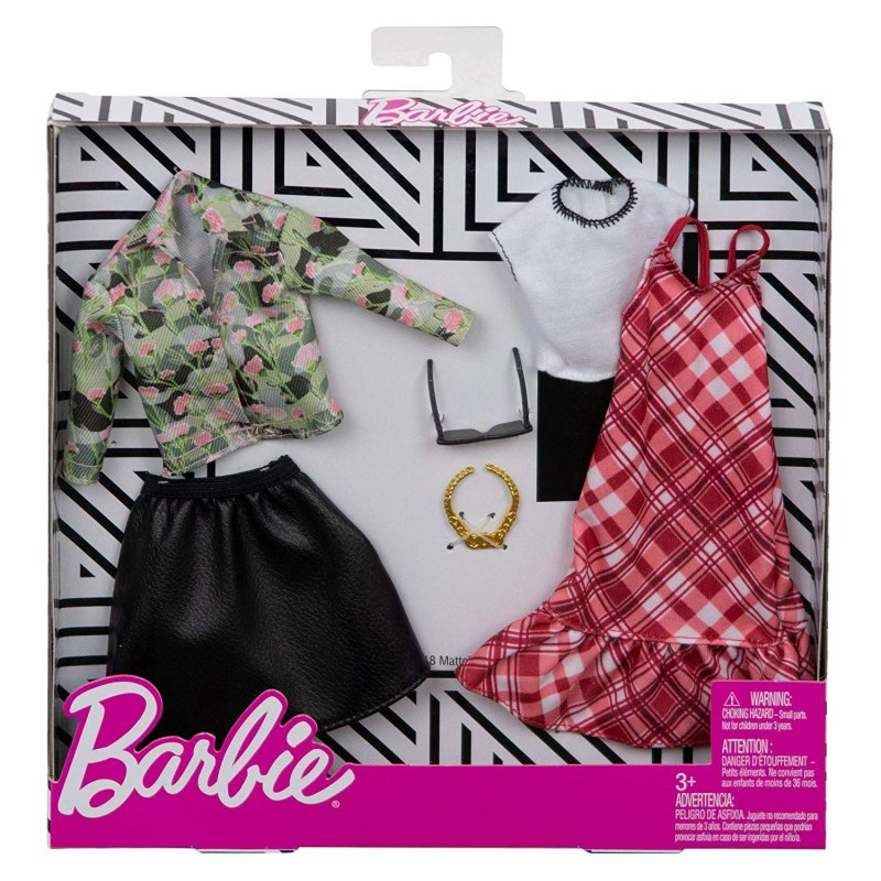 Barbie Dukketøj - Fashion 2-Pak - Plaid & Camo