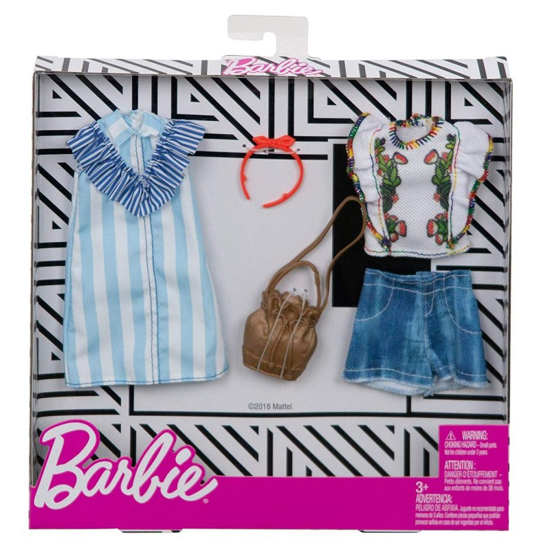 Barbie Dukketøj - Fashion 2-Pak - Riller & Striber