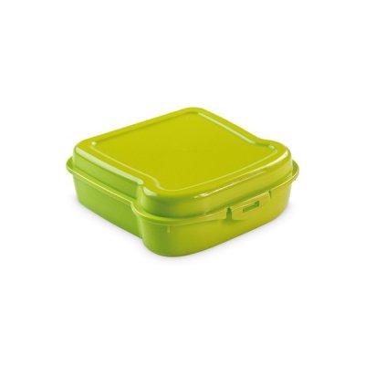 Sandwich Formet Madkasse Med Sikkerhedslås - 450 Ml - Grøn