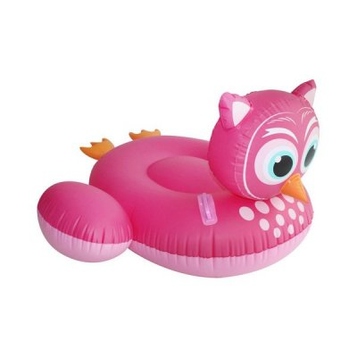 Oppustelig Badedyr Til Pool - Ugle - Pink