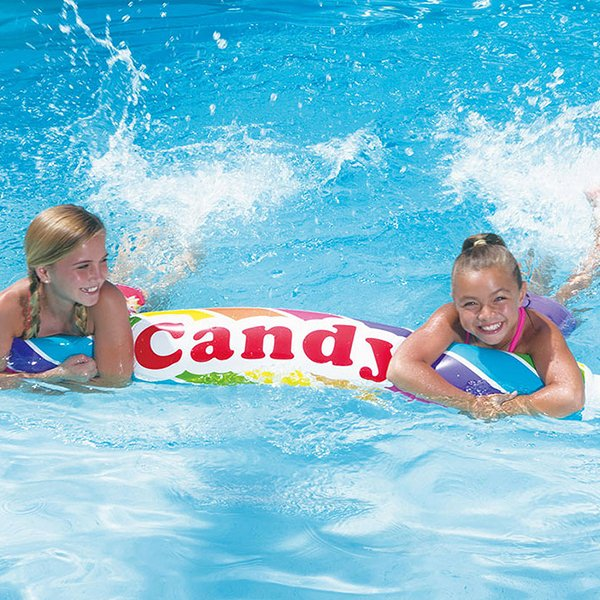Oppustelig Pude Til Pool - Candy- Gul Brun