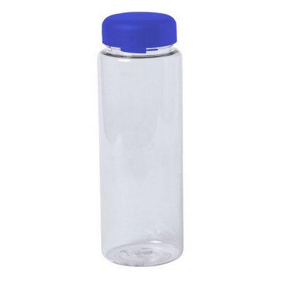 Vandflaske Til Køleskabet - Gennemsigtig Plastik - 500 Ml - Blå